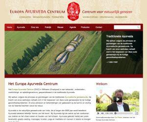Voorpagina nieuwe website EAC