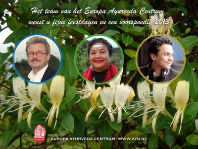Europa Ayurveda Centrum Kerstkaart 2012