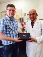 Dr. Vasant Lad and Prof. Oleg Sorokin.