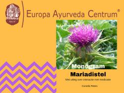 Monogram Mariadistel