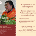 New course: Control and Prevent Alzheimer through four important methods.