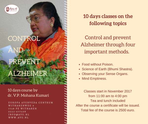 Control and prevent Alzheimer course