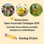 Kaarten voor de Open Ayurveda Tuindagen 2019
