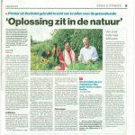 Prachtig artikel in de Stentor