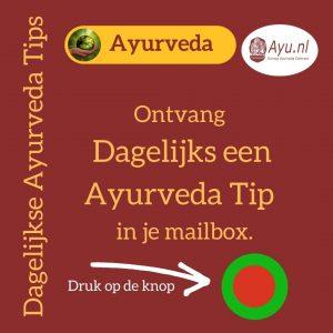 Dagelijkse Ayurveda Tip DAT